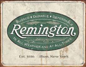 Remington Logo Tin Sign #1413