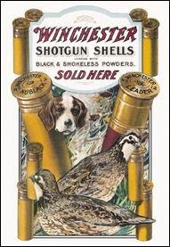 Winchester Dog & Quail Tin Sign #940