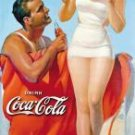 Coke Man & Woman Beach Tin Sign #1051