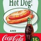 Coke Hot Dog Tin Sign #1048