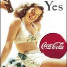 Coke Yes White Suit Tin Sign #1056