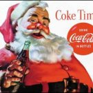 Coke Santa Time Tin Sign #1046