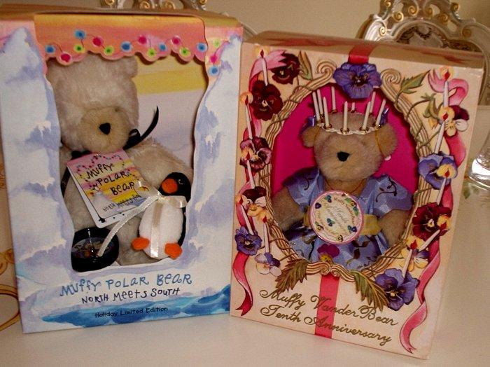 NORTH AMERICAN BEAR MUFFY 10th ANNIVERSARY & POLAR BOXED Limited Edition 1999!