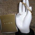 AVON Goldtone Rhinestone Bangle Bracelet - Size LARGE
