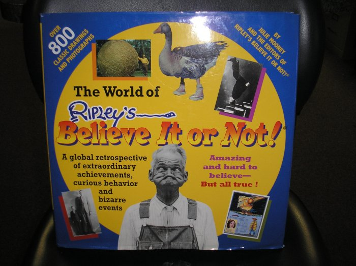 The World of Ripley's Believe It or Not TABLE BOOK by Julie Mooney!!