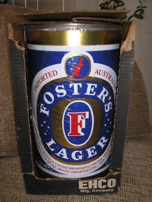 FOSTER'S LAGER BEER CAN OUTDOOR BARBEQUE CHARCOAL GRILL- BRAND NEW IN BOX!
