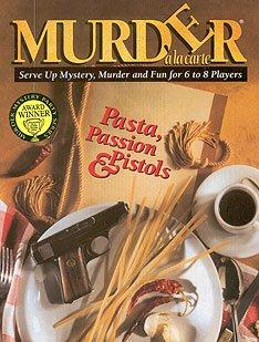 Murder à la carte - Pasta, Passion & Pistols - Murder Mystery Dinner Party Game - BRAND NEW!
