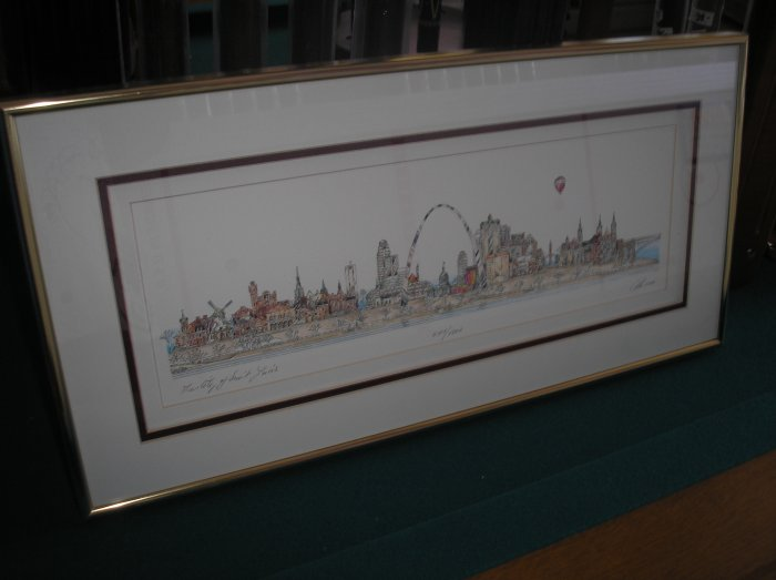 City Of St Louis Framed Triple Matted Print By John Pils