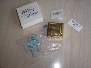 WHITING and DAVIS GOLD MESH CONTACT LENS CASE - BRAND NEW IN BOX - EXREMEMLY RARE!