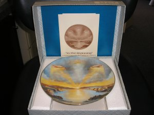 """11 PLATE SET-""""THE CREATION"""" by YIANNIS KOUTSIS from CALHOUN'S COLLECTORS SOCIETY IN ORIGINAL BOXES!"""