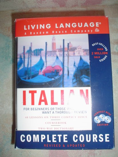 Italian Complete Course:Basic-Intermediate,Compact Disc Edition by Living Language!
