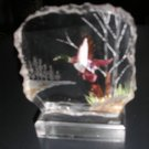 CARVED LUCITE MALLARD DUCK IN GORGEOUS 3D DETAIL - ARTIST SIGNED - WALD!