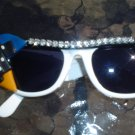 NEW YORK CITY THEMED SUNGLASSES-RAY BAN STYLING w/ FUNKY NYC ACCENTS & RHINESTONES-SHABBY CHIC-NEW!