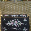 CAPRICE OPERA ELEGANT GLASS & TAMBOUR EMBROIDERY BEADED EVENING BAG,1930's-MADE IN FRANCE-STUNNING!