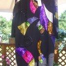OUTLANDER BLACK SEQUIN and BEAD KNIT DRESS PLUS SIZE 1X-CROSSDRESS-TRANSGENDER!
