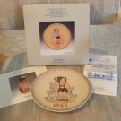 "GOEBEL M. J. HUMMEL ANNUAL CHRISTMAS PLATE-1988-""LITTLE GOAT HERDER"" #284-STILL IN ORIGINAL BOX!"