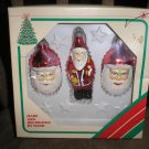 VINTAGE ESSEX FRANKE COMPANY FANCY GLASS HANDMADE CHRISTMAS ORNAMENTS - NEW IN ORIGINAL BOX!