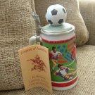 ANHEUSER-BUSCH 1994 WORLD CUP SOCCER STEIN by CERAMARTE of BRAZIL - NEW!