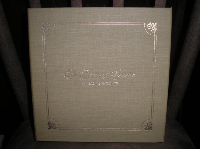 THE FLOWERS OF AMERICA BOX SET from THE FRANKLIN MINT GALLERY OF AMERICAN ART-19 BOOKLETS-BEAUTIFUL!