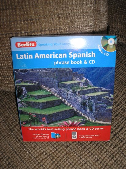 BERLITZ 684011 LATIN AMERICAN SPANISH PHRASE BOOK AND AUDIO CD - BRAND NEW!
