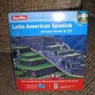 BERLITZ 684011 LATIN AMERICAN SPANISH PHRASE BOOK AND AUDIO CD - BRAND NEW!