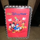 WALT DISNEYWORLD PLAYING CARDS in DECORATIVE CASE - MICKEY, MINNIE, GOOFY & PLUTO!