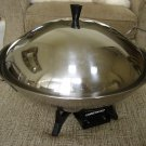 FARBERWARE MODEL 303 ELECTRIC WOK with TEMPURA RACK & MORE -STAINLESS STEEL-WORKS GREAT-MADE IN USA!