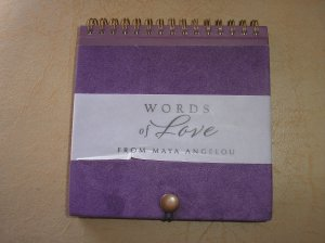 WORDS OF LOVE FROM MAYA ANGELOU for HALLMARK - BRAND NEW!