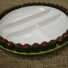 BON APPETIT, OLIVE-EDGED HORS D'OEUVRES/APPETIZER SERVING PLATE by SHAFFORD - SOOOO 1960's!!