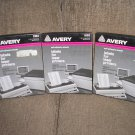 "AVERY 5163 WHITE SELF-ADHESIVE LASER LABELS - 2"" x 4"" by Avery - 1000 LABELS - NEW OLD STOCK!"