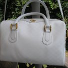 "GUCCI Purse WHITE GG SIGNATURE PATTERN - ""SPEEDY"" TOTE - AUTHENTIC!"