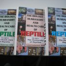 THE BIOLOGY, HUSBANDRY AND HEALTH CARE OF REPTILES, 3 VOLUME SET by Lowell Ackerman- WOW!