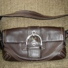 COACH SMALL BROWN LEATHER BAGUETTE BAG HANDBAG PURSE No. CO66-8A05 - AUTHENTIC!