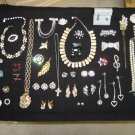 JEWELRY LOT of VINTAGE COSTUME JEWELRY-50+ PIECES-GREAT FOR NEW CONSIGNMENT SHOP/VINTAGE BOUTIQUE!