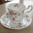 VINTAGE ROYAL CREST BONE CHINA TEA CUP & SAUCER SET - MINI ROSE BUD CHINTZ PATTERN - 2 of 2!