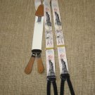 "TRAFALGAR ""LA LIBERTE"" SUSPENDERS BRACES - CLAUDE MILLOT 1886 REPRO - SILK & LEATHER!"