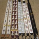 PRINTED SUSPENDERS BRACES - LOT OF 4 PAIRS + 1 PAIR OF PARIS SUSPENDERS IN BLACK!