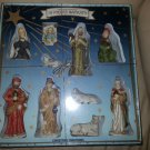 10 PIECE PORCELAIN NATIVITY SET - HAND PAINTED - A CHRISTMAS TRADITION!