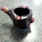 VINTAGE BRINNS POTTERY BLACK-FACED CLOWN PIPE ASHTRAY - MADE IN JAPAN!