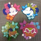 DISNEY CHARACTER RUBBER 4 PIECE COASTER SET - MICKEY MOUSE, MINNIE MOUSE, GOOFY, DAISY DUCK!