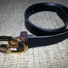 Gucci Men's Brown Leather Belt with Two-Tone GG Buckle - SIZE L/XL - VINTAGE - AUTHENTIC!