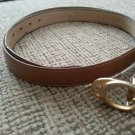 "Gucci Women's Light Brown Leather Belt - Gold Tone ""G"" Buckle - SIZE M/L - VINTAGE - AUTHENTIC #2!"