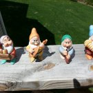 SNOW WHITE & the SEVEN DWARFS BISQUE FIGURINES - Lot of 4 - DOC, GRUMPY, SNEEZY & BASHFUL by DISNEY!