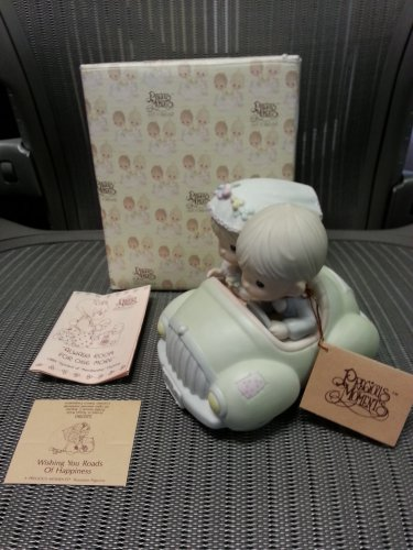 """Precious Moments """"Wishing You Roads Of Happiness"""" Figurine by Enesco!"""