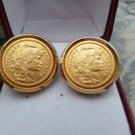 Vintage Republique Francaise Coin Cufflinks!