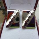Vintage Silver Rectangular Cufflinks!