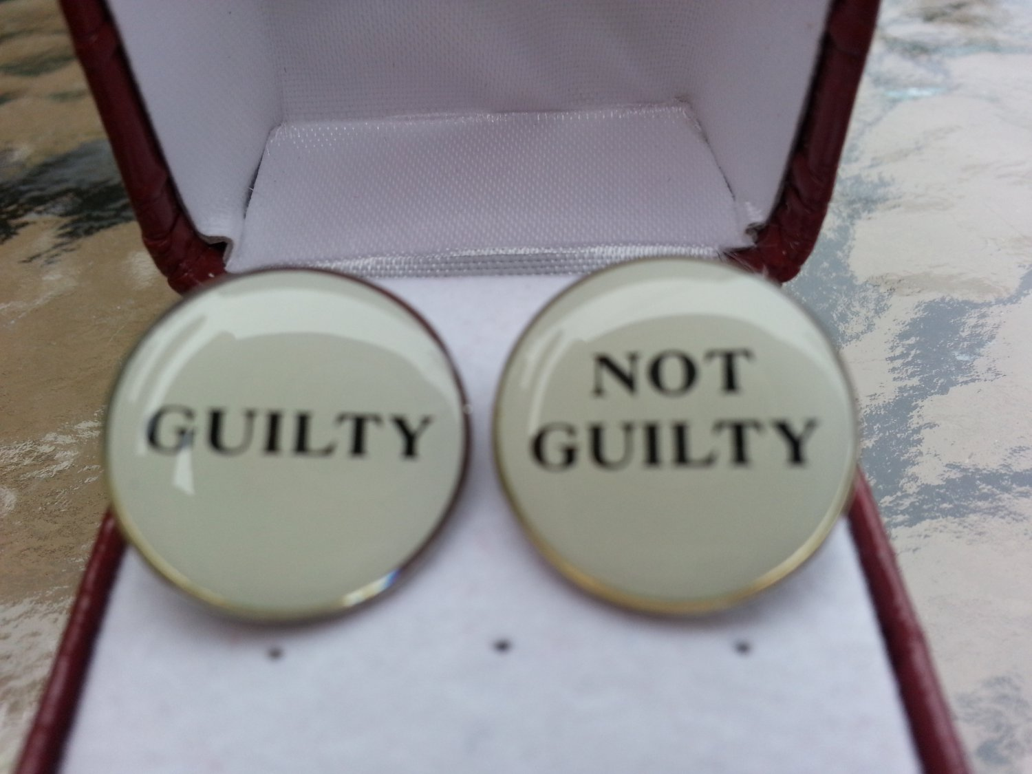 "Legal Decision Maker Cufflinks ""GUILTY"" & ""NOT GUILTY"" by Cufflinks!"