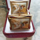 Vintage Photostone Revolutionary Soldier Cufflinks in a Gold Clad Setting!