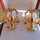 SCALES OF JUSTICE GOLD PLATED Cufflinks - Charles Tyrwhitt!