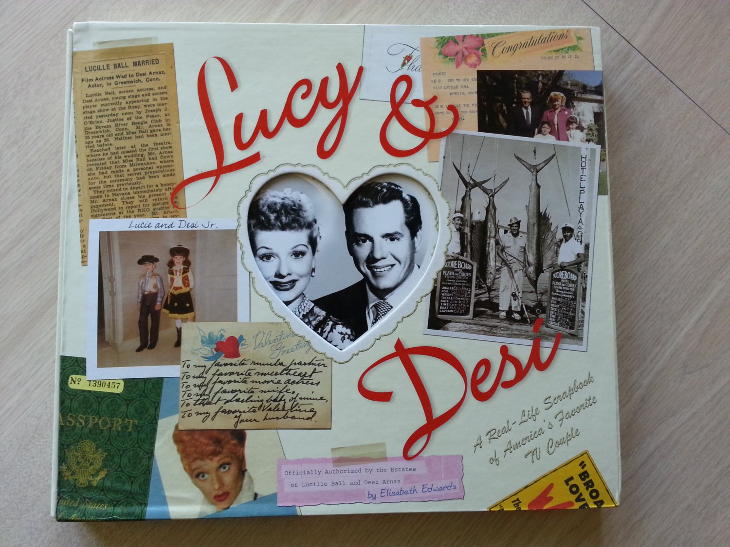 Lucy & Desi: The Real Life Scrapbook of America's Favorite TV Couple Hardcover - 2004!